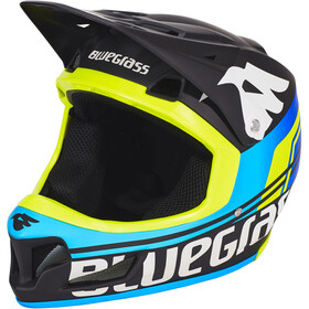 bluegrass Brave Casco Full Face, black/cyan/fluo yellow